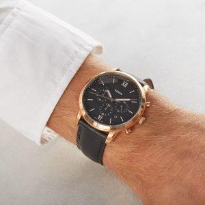Đồng hồ đeo tay nam Fossil Neutra Chronograph Black Dial FS5381