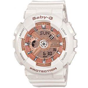 Đồng hồ nữ Casio Baby G màu trắng dây nhựa BA110-7A1.