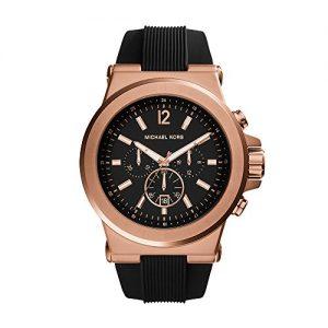 Đồng hồ nam Michael Kors Dylan Chronograph Black Dial Black Rubber MK8184