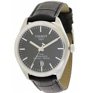 Đồng hồ Tissot nam R100 Black Dial Black Leather T1014511605100