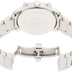 Đồng hồ Ck nam City Black Dial Stainless Steel K2G27141