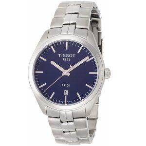 Đồng hồ Tissot nam PR100 Blue Dial Stainless Steel T1014101104100