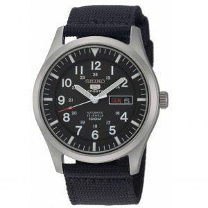 Đồng hồ nam Seiko 5 Sport Automatic Black Canvas SNZG15