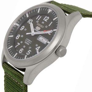 Đồng hồ nam Seiko 5 Sport Automatic Khaki Green Canvas SNZG09