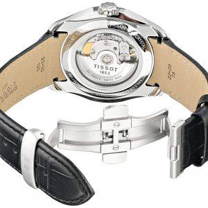Đồng hồ Tissot Couturier Automatic Black Dial Black Leather T0354281605100