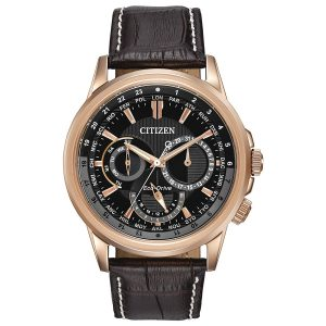 Đồng hồ đeo tay nam Citizen Calendrier Eco-Drive Black Dial BU2023-04E