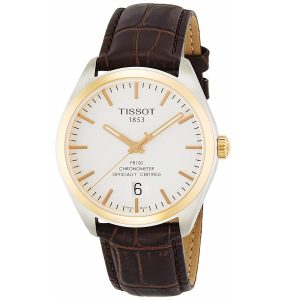 Đồng hồ Tissot nam PR100 Silver Dial Brown Leather T1014512603100