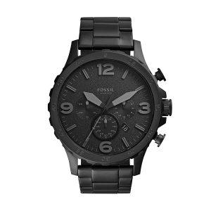Đồng hồ nam Fossil Nate Chronograph Black Dial Black Ion JR1401