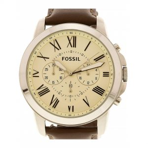 Đồng hồ đeo tay nam Fossil Grant Cream Dial Chronograph FS4735IE