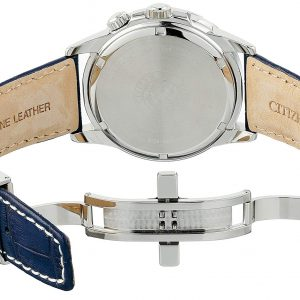 Đồng hồ Citizen Nam Calendrier Eco-Drive White Dial BU2020-02A
