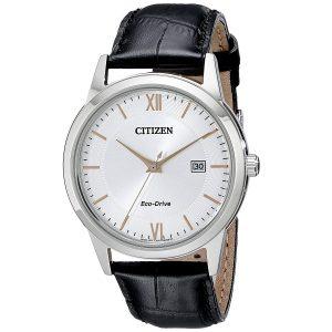 Đồng hồ Citizen nam  Eco-Drive màu bạc mặt số màu đen AW1236-03A