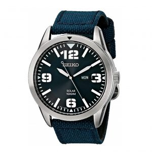 Đồng hồ nam Seiko Solar Blue Dial Blue Nylon SNE329