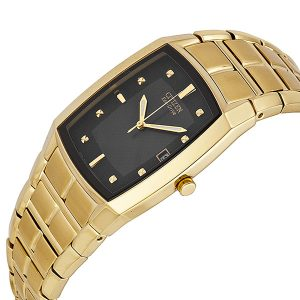 Đồng hồ Citizen Nam Eco Drive Black Dial Yellow Gold-tone BM6552-52E