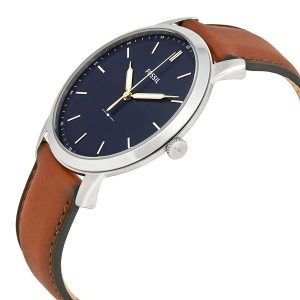 Đồng hồ nam Fossil Minimalist Blue Dial Brown Leather FS5304