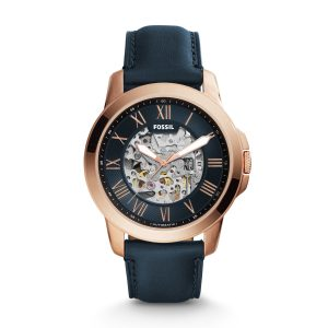 Đồng hồ nam Fossil Grant Automatic Navy Blue Skeleton Dial ME3102