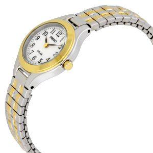 Đồng hồ Seiko nữ Solar White Dial Two-tone Stainless Steel SUP100