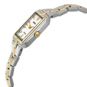 Đồng hồ đeo tay nữ Seiko Solar Silver Dial hai tông màu SUP272