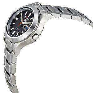 Đồng hồ đeo tay nữ bằng thép không gỉ màu đen Seiko 5 tự động SYMD95