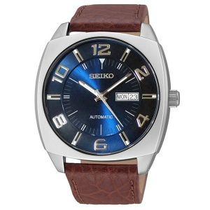 Đồng hồ nam Seiko Recraft Automatic Blue Dial Brown Leather SNKN37