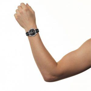 Đồng hồ nam Citizen Eco Drive Black Dial Black Leather AU1040-08E