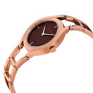 Đồng hồ đeo tay nữ Calvin Klein vàng hồng Class Brown Rose K6R2362K