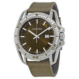 Đồng hồ nam màu xanh lá cây Calvin Klein K5Y31XWL
