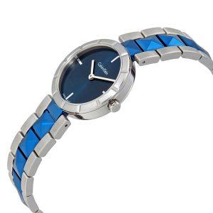 Đồng hồ đeo tay nữ Calvin Klein Edge Blue Dial K5T33T4N