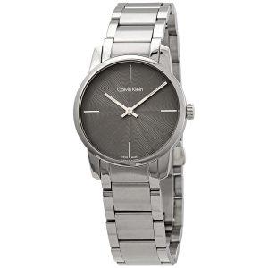 Đồng hồ Calvin Klein nữ mặt số màu xám K2G23144
