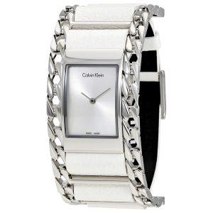 Đồng hồ đeo tay nữ mặt số bạc Calvin Klein K4R231L6