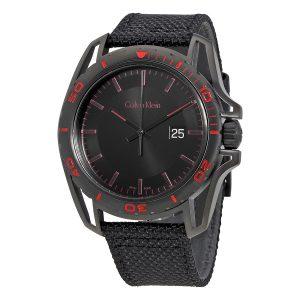 Đồng hồ Calvin Klein Nam Earth Balck Dial Mens Black Nylon K5Y31ZB1