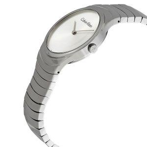 Đồng hồ Calvin Klein nữ bằng thép không gỉ Whirl Silver Dial K8A23146