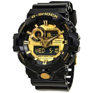 Đồng hồ nam Casio G-Shock Gold-Tone Dial Black Resin GA-710GB-1ACR