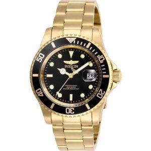 Đồng hồ nam Invicta Pro Diver Gold-tone Black Dial 40 mm 26975