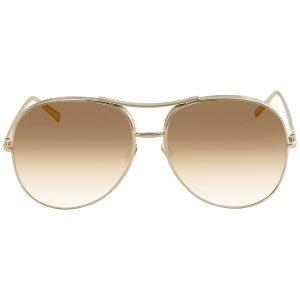Mắt kính Chloe nữ Nola Light Brown Gradient Aviator CE127S 722 61