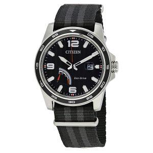Đồng hồ Citizen nam PRT Black Dial Striped Nylon AW7030-06E