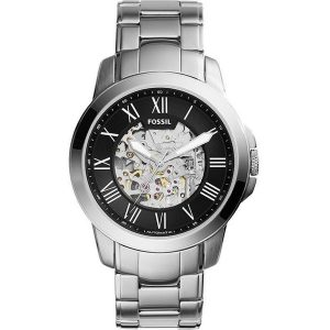 Đồng hồ đeo tay nam Fossil Grant Automatic Black Skeleton Dial ME3103
