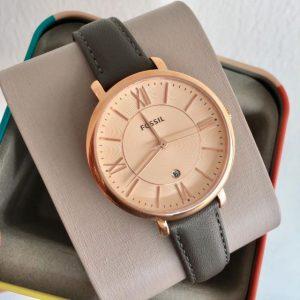 Đồng hồ nữ dây đeo màu xám Fossil Jacqueline Rose Dial ES3707