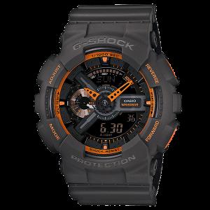 Đồng hồ nam Casio G-Shock màu xám và màu cam GA110TS-1A4