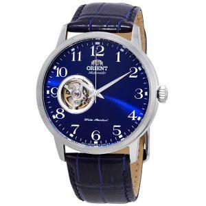 Đồng hồ Orient nam mặt số tự động màu xanh cổ điển RA-AG0011L10B