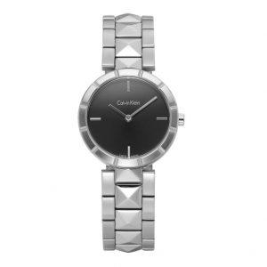 Đồng hồ đeo tay nữ Calvin Klein Edge Black Studded K5T33141