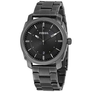 Đồng hồ Nam Fossil Machine Black Dial Smoke IP Stainless Steel FS4774