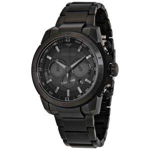 Đồng hồ Citizen Nam Ecosphere Eco-Drive Black Dial CA4184-81E