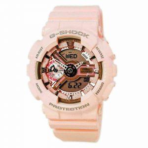Đồng hồ đeo tay nữ Casio G-Shock kỹ thuật số màu hồng GMAS110MP-4A1