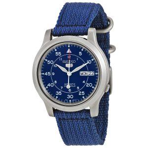 Đồng hồ đeo tay nam Seiko 5 Blue Dial Blue Canvas SNK807