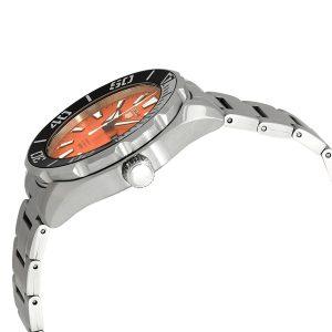 Đồng hồ nam bằng thép không gỉ màu cam Seiko 5 Sports SRPC55