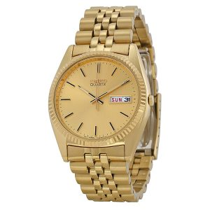 Đồng hồ Seikonam Day and Date Dress Gold Dial SGF206