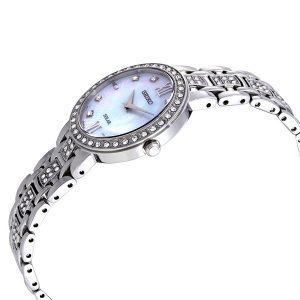 Đồng hồ Seiko nữ Solar Crystal White Mother of Pearl Dial SUP359