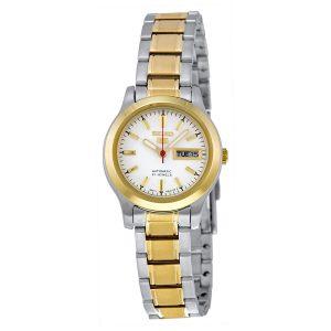Đồng hồ đeo tay nữ Seiko 5 số màu trắng tự động SYMD90