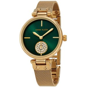 Đồng hồ Anne Klein nữ Swarovski Crystals Green Dial Ladies AK/3000GNGB